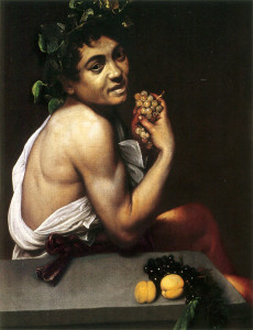 Self-portrait as the Sick Bacchus by Caravaggio.