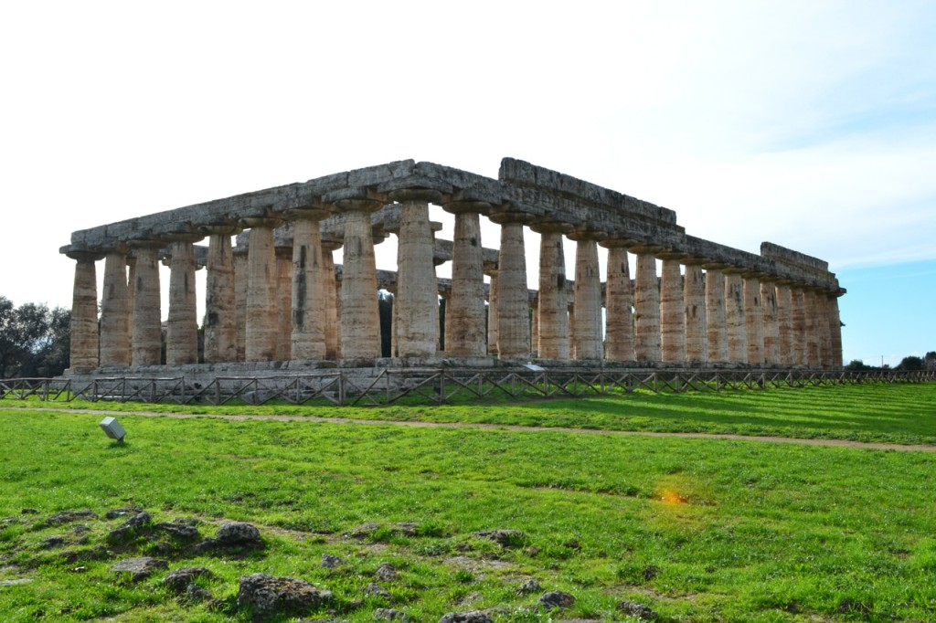 The first Temple of Hera is the oldest in Paestum, dating to circa 550 BC.