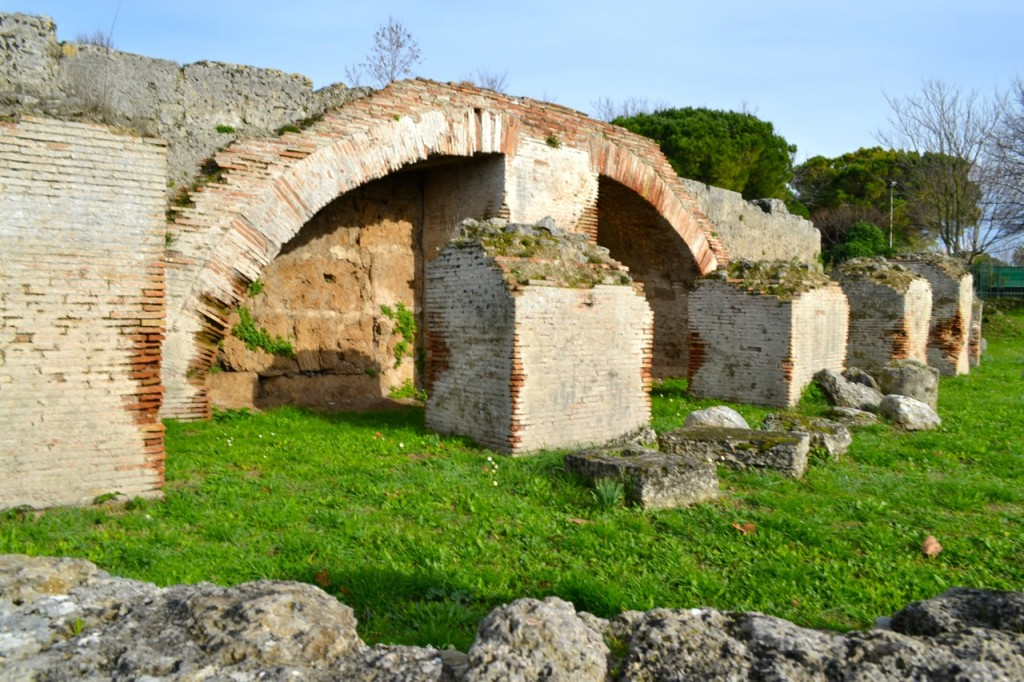 The Roman amphitheater is only partially excavated. A road was actually built over the rest of the theater in the 1930s, to much dismay and outrage...