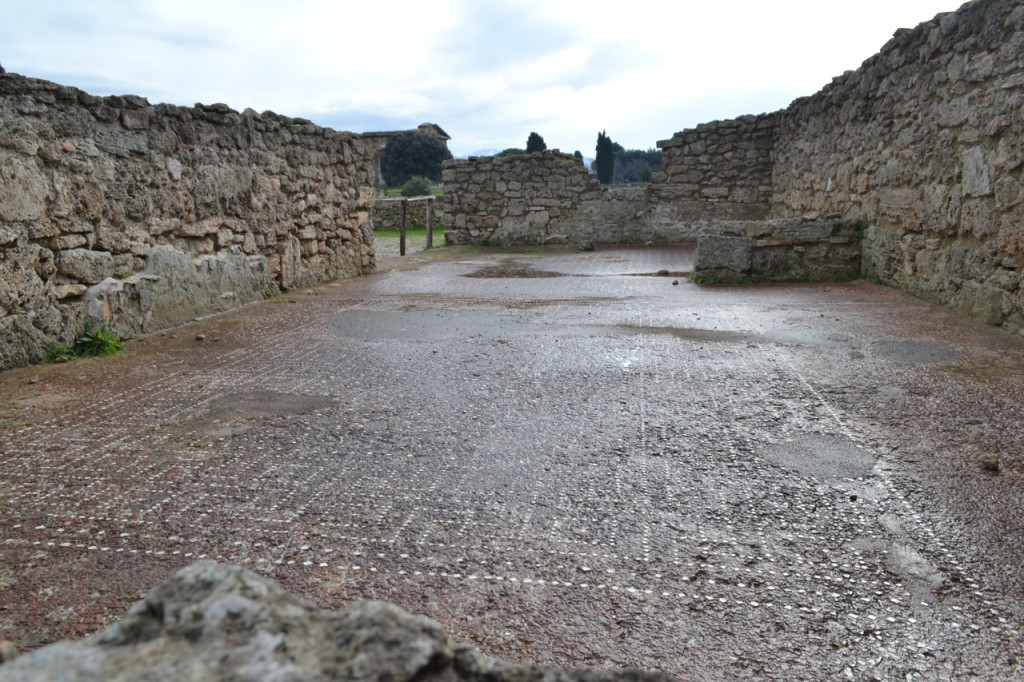 Even Roman tiled floors remain undisturbed amidst the ruins.