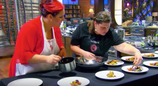 Screencapture from the September 16 2015 episode of MasterChef.