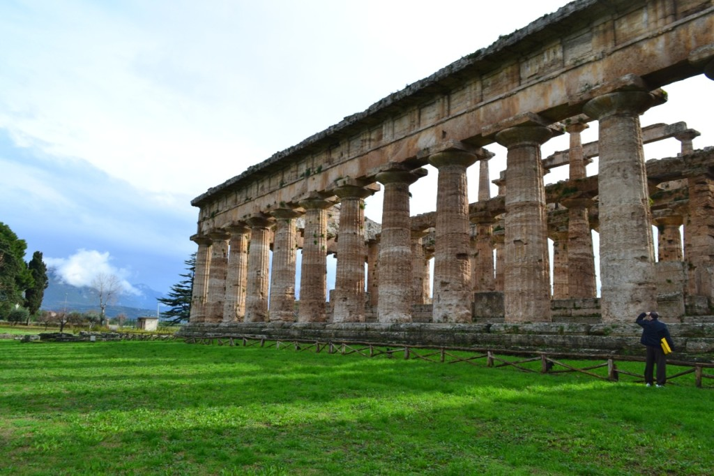 Touring Paestum on a January afternoon.