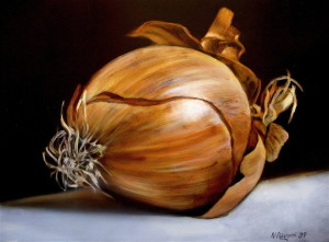 Still Life with Onion by the author, sockii.