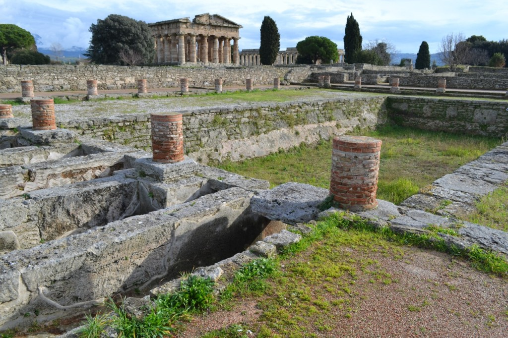 Believed to be a swimming pool, and part of a Roman gymnasium.