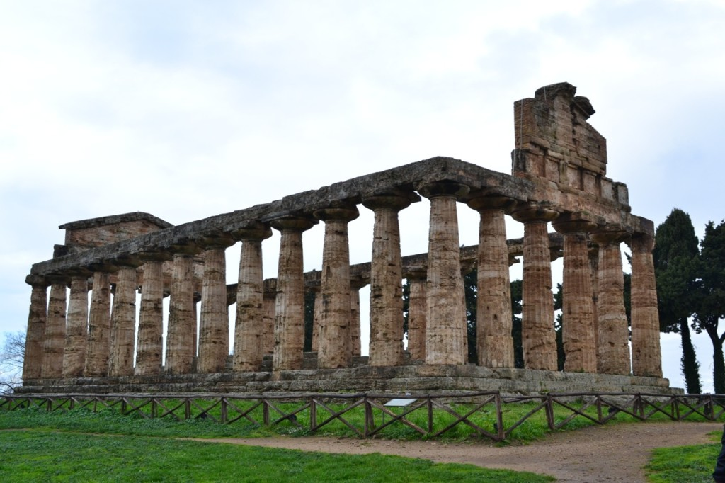 Upon entering the archeological park, the first temple you see is the Temple of Athena.
