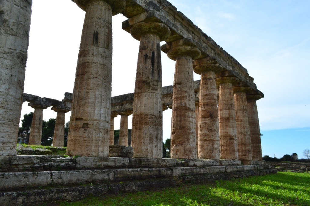 Originally archeologists believed the structure to be a Roman basilica, until inscriptions and an alter revealed the goddess Hera was worshipped here.