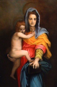 """Madonna and Child"" - Based on work (detail) by Andrea del Sarto"
