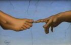"""Hand to Foot"" by David Carrozziono, inspired by Michelangelo."