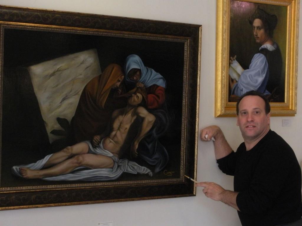 David with his Pieta.