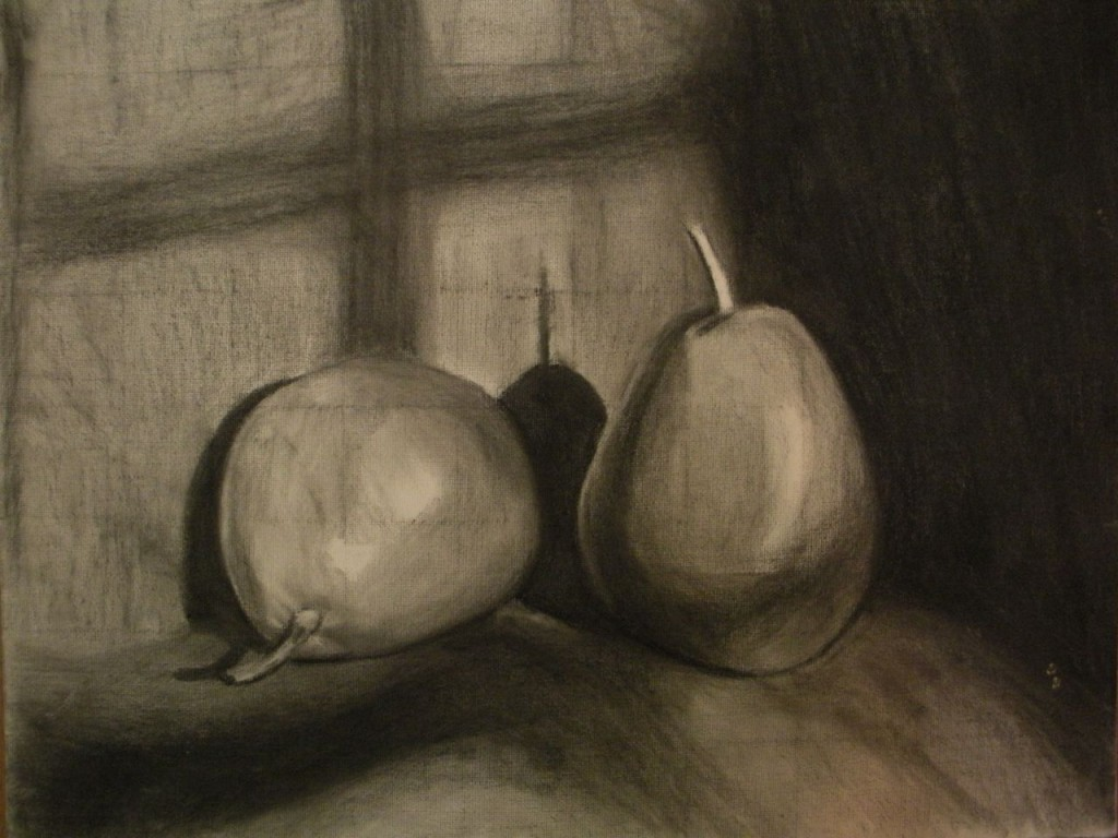 Charcoal underdrawing