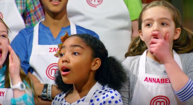 Screencapture from the November 13 2015 episode of MasterChef Junior